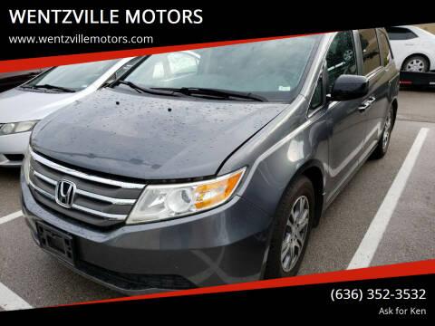 2012 Honda Odyssey for sale at WENTZVILLE MOTORS in Wentzville MO