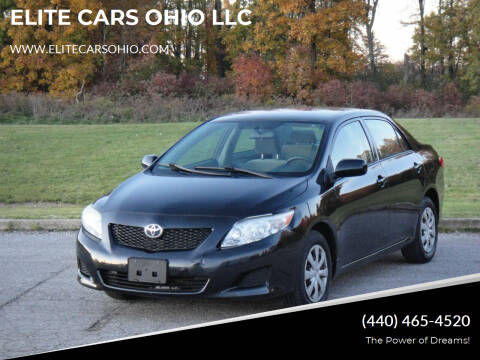 2009 Toyota Corolla for sale at ELITE CARS OHIO LLC in Solon OH
