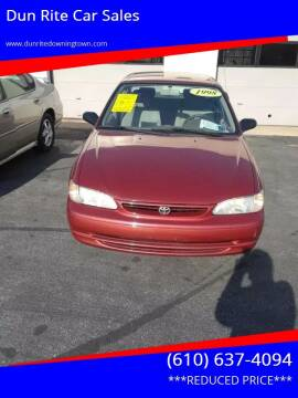 1998 Toyota Corolla for sale at Dun Rite Car Sales in Downingtown PA