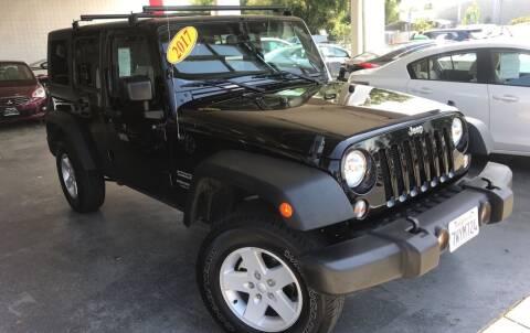 2017 Jeep Wrangler Unlimited for sale at Sac River Auto in Davis CA