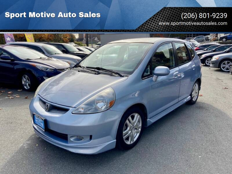 2008 Honda Fit for sale at Sport Motive Auto Sales in Seattle WA