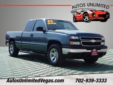 2007 Chevrolet Silverado 1500 Classic for sale at Autos Unlimited in Las Vegas NV