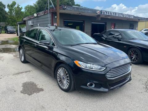 2015 Ford Fusion for sale at Texas Luxury Auto in Houston TX