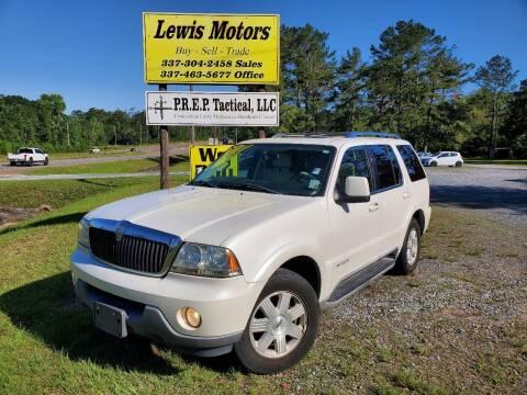 2003 Lincoln Aviator for sale at Lewis Motors LLC in Deridder LA