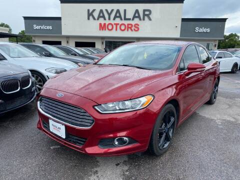 2016 Ford Fusion for sale at KAYALAR MOTORS in Houston TX
