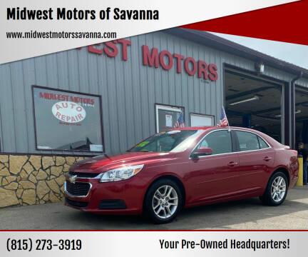 2014 Chevrolet Malibu for sale at Midwest Motors of Savanna in Savanna IL