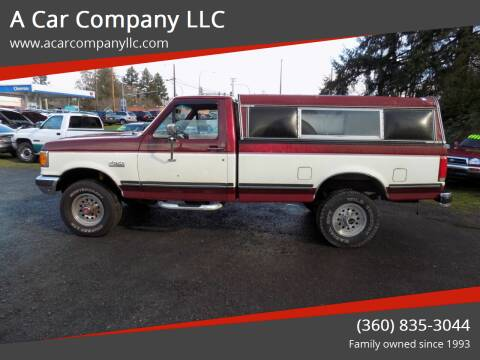 1990 Ford F-250 for sale at A Car Company LLC in Washougal WA