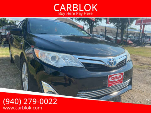 2013 Toyota Camry Hybrid for sale at CARBLOK in Lewisville TX