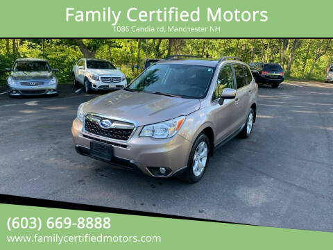 2014 Subaru Forester for sale at Family Certified Motors in Manchester NH