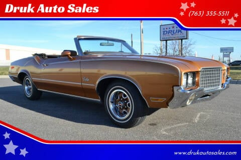 1972 Oldsmobile Cutlass for sale at Druk Auto Sales in Ramsey MN