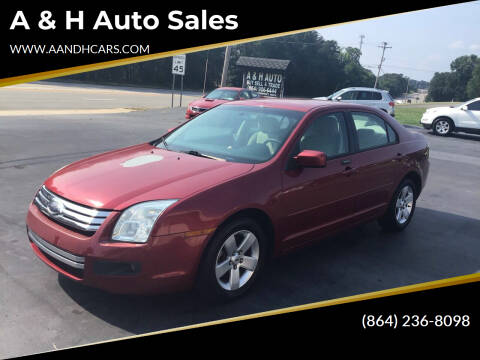 2007 Ford Fusion for sale at A & H Auto Sales in Greenville SC
