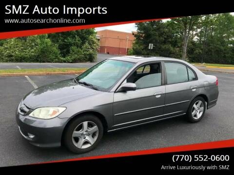 2005 Honda Civic for sale at SMZ Auto Import in Roswell GA