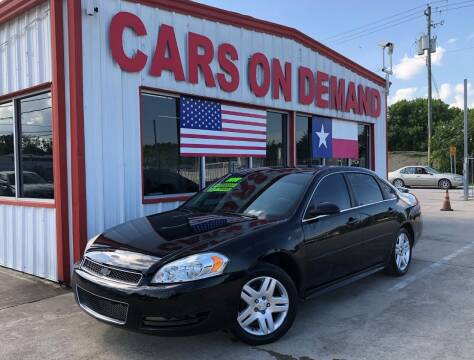 2012 Chevrolet Impala for sale at Cars On Demand 2 in Pasadena TX