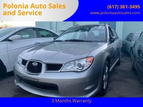 2007 Subaru Impreza for sale at Polonia Auto Sales and Service in Hyde Park MA