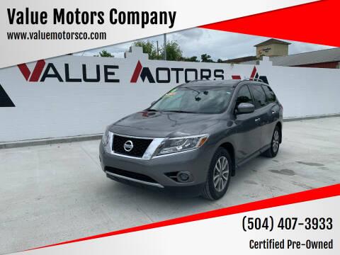 2016 Nissan Pathfinder for sale at Value Motors Company in Marrero LA