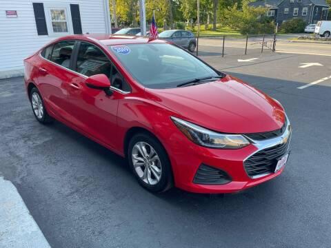 2019 Chevrolet Cruze for sale at 5 Corner Auto Sales Inc. in Brockton MA