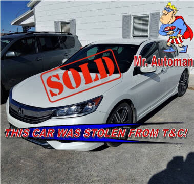 2017 Honda Accord for sale at TOWN & COUNTRY AUTO SALES in Overton NV