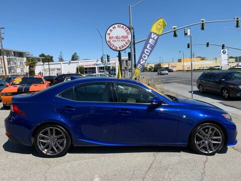 2016 Lexus IS 350 for sale at San Mateo Auto Sales in San Mateo CA