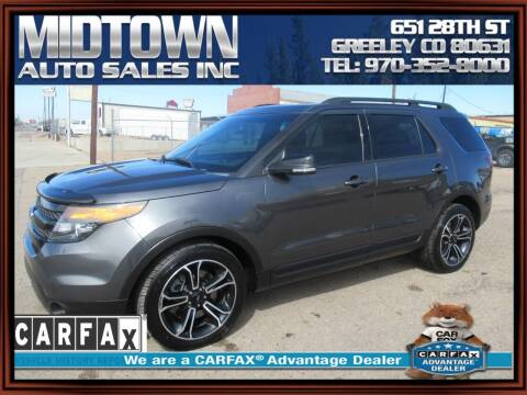 2015 Ford Explorer for sale at MIDTOWN AUTO SALES INC in Greeley CO