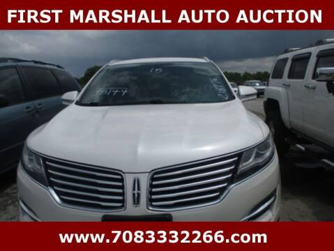 2015 Lincoln MKC for sale at First Marshall Auto Auction in Harvey IL