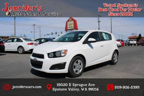2015 Chevrolet Sonic for sale at Jennifer's Auto Sales in Spokane Valley WA
