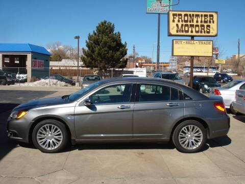 2013 Chrysler 200 for sale at Frontier Motors Ltd in Colorado Springs CO