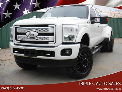 2015 Ford F-350 Super Duty for sale at Triple C Auto Sales in Gainesville TX