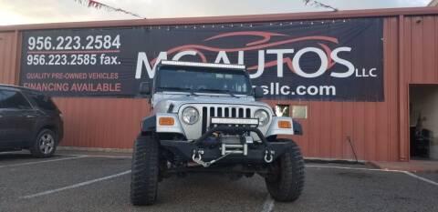 2003 Jeep Wrangler for sale at MC Autos LLC in Pharr TX