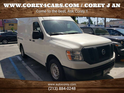 2015 Nissan NV Cargo for sale at WWW.COREY4CARS.COM / COREY J AN in Los Angeles CA