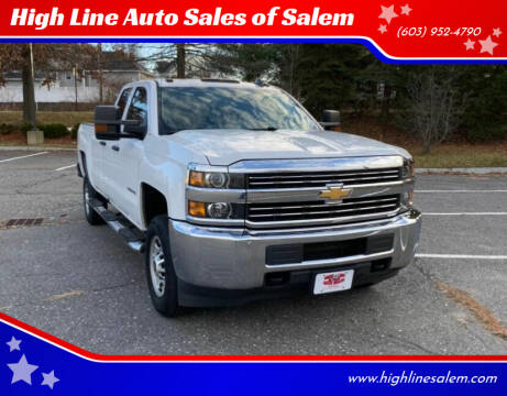 2016 Chevrolet Silverado 2500HD for sale at High Line Auto Sales of Salem in Salem NH