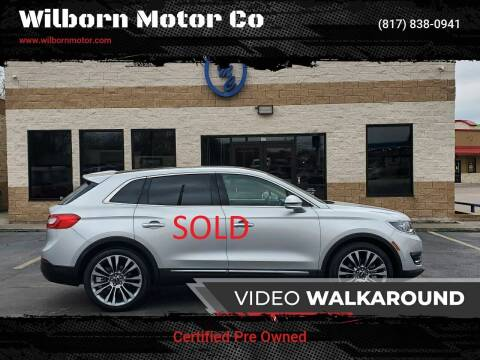 2017 Lincoln MKX for sale at Wilborn Motor Co in Fort Worth TX