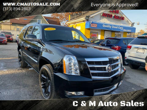 2013 Cadillac Escalade for sale at C & M Auto Sales in Detroit MI