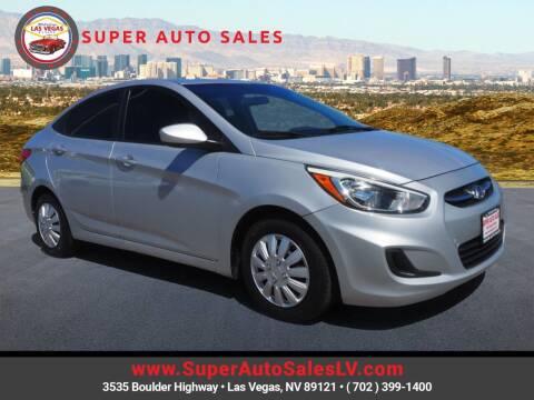 2016 Hyundai Accent for sale at Super Auto Sales in Las Vegas NV
