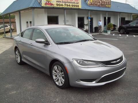 2015 Chrysler 200 for sale at LONGSTREET AUTO in St Augustine FL
