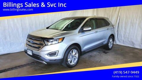 2017 Ford Edge for sale at Billings Sales & Svc Inc in Clyde OH