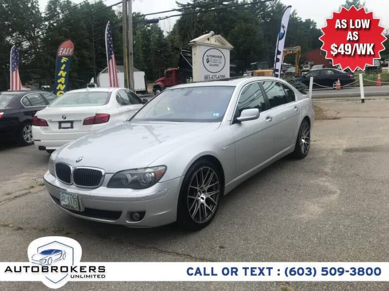 2006 BMW 7 Series for sale at Auto Brokers Unlimited in Derry NH