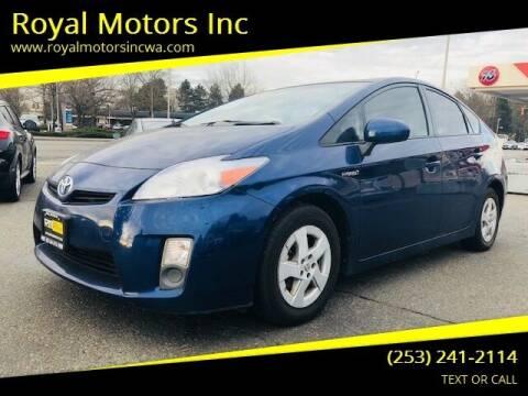 2011 Toyota Prius for sale at Royal Motors Inc in Kent WA
