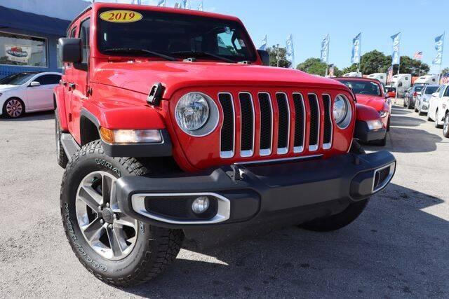 2019 Jeep Wrangler Unlimited for sale at OCEAN AUTO SALES in Miami FL