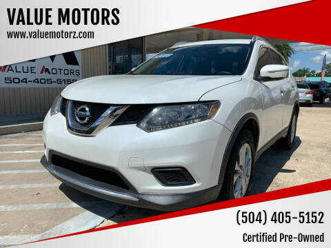 2015 Nissan Rogue for sale at VALUE MOTORS in Kenner LA