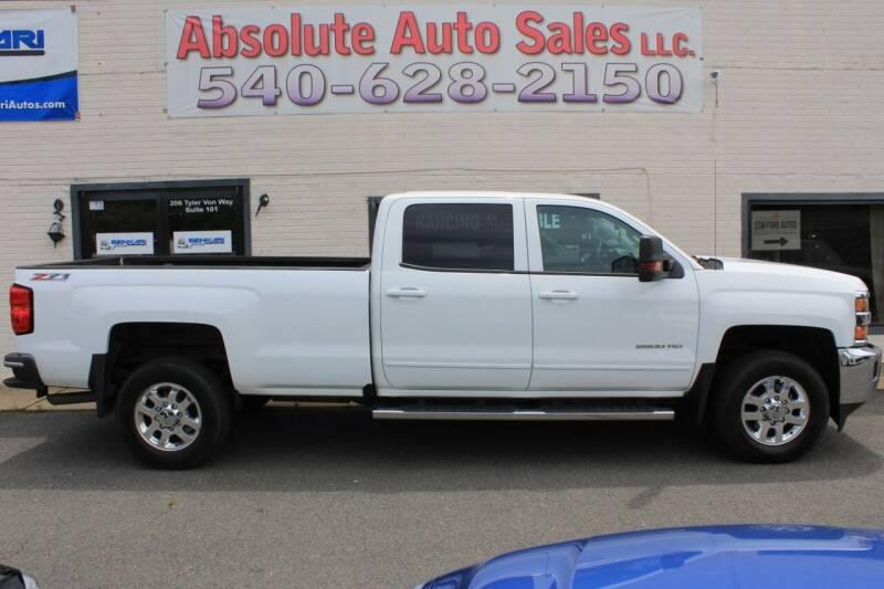 2015 Chevrolet Silverado 2500HD for sale at Absolute Auto Sales in Fredericksburg VA