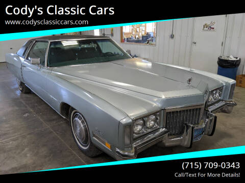 1972 Cadillac Eldorado for sale at Cody's Classic Cars in Stanley WI