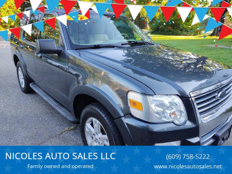 2010 Ford Explorer for sale at NICOLES AUTO SALES LLC in Cream Ridge NJ