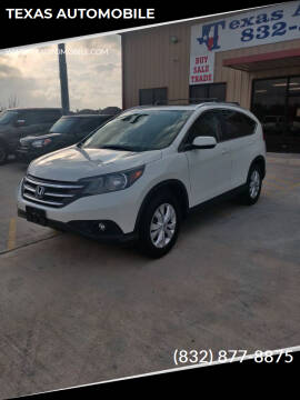 2013 Honda CR-V for sale at TEXAS AUTOMOBILE in Houston TX