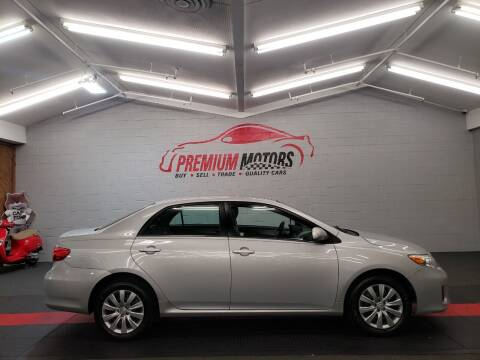 2013 Toyota Corolla for sale at Premium Motors in Villa Park IL