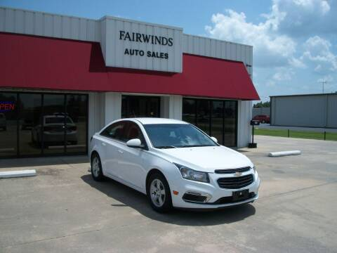 2015 Chevrolet Cruze for sale at Fairwinds Auto Sales in Dewitt AR
