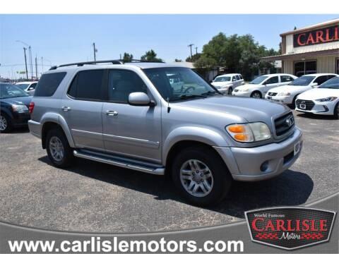 2002 Toyota Sequoia for sale at Carlisle Motors in Lubbock TX