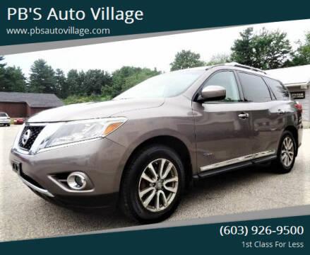2014 Nissan Pathfinder Hybrid for sale at PB'S Auto Village in Hampton Falls NH