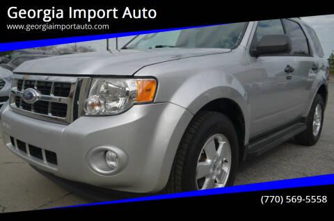 2012 Ford Escape for sale at Georgia Import Auto in Alpharetta GA