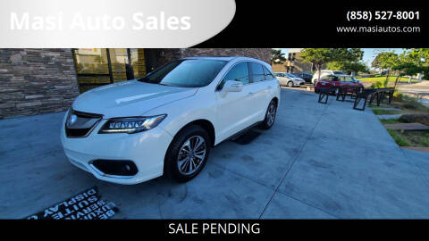 2016 Acura RDX for sale at Masi Auto Sales in San Diego CA