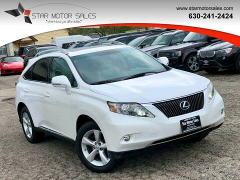 2010 Lexus RX 350 for sale at Star Motor Sales in Downers Grove IL